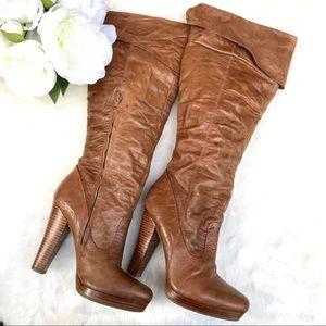 JESSICA SIMPSON Tulip Leather Knee High Boots